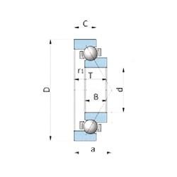 NACHI 180BN19W angular contact ball bearings