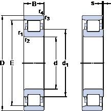 70 mm x 150 mm x 35 mm  SKF N 314 ECP thrust ball bearings