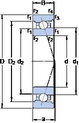 100 mm x 150 mm x 24 mm  SKF 7020 CB/P4A angular contact ball bearings