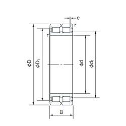 190 mm x 260 mm x 69 mm  NACHI RC4938 cylindrical roller bearings