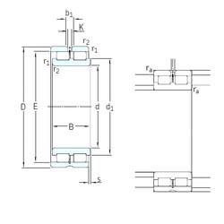 190 mm x 260 mm x 69 mm  SKF NNCL4938CV cylindrical roller bearings