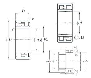 190 mm x 260 mm x 69 mm  KOYO NNU4938K cylindrical roller bearings