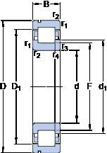 70 mm x 150 mm x 35 mm  SKF NUP 314 ECNP thrust ball bearings