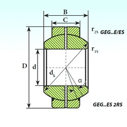 17 mm x 35 mm x 20 mm  ISB GEG 17 ES 2RS plain bearings