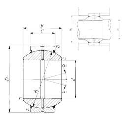17 mm x 35 mm x 20 mm  IKO GE 17GS-2RS plain bearings