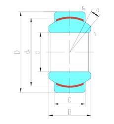 17 mm x 35 mm x 20 mm  LS GEG17C plain bearings