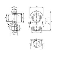 40 mm x 62 mm x 28 mm  INA GIHRK 40 DO plain bearings
