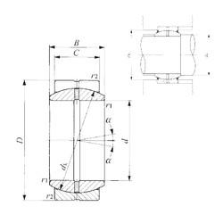 40 mm x 62 mm x 28 mm  IKO GE 40ES plain bearings