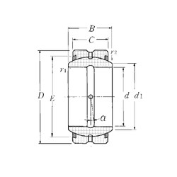40 mm x 62 mm x 28 mm  NTN SA1-40BSS plain bearings