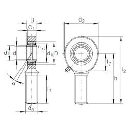 40 mm x 62 mm x 28 mm  INA GAR 40 DO-2RS plain bearings