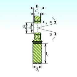 40 mm x 62 mm x 28 mm  ISB SA 40 C 2RS plain bearings