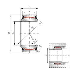 40 mm x 62 mm x 28 mm  INA GE 40 UK-2RS plain bearings