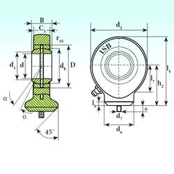 40 mm x 62 mm x 28 mm  ISB T.A.C. 240 plain bearings