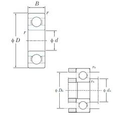 5 mm x 19 mm x 6 mm  KOYO 635 deep groove ball bearings
