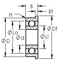 AST F635H deep groove ball bearings