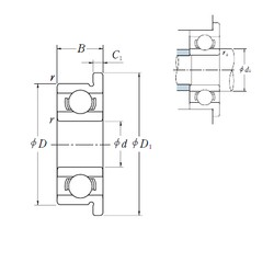 5 mm x 19 mm x 6 mm  ISO F635 deep groove ball bearings