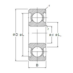 5 mm x 19 mm x 6 mm  NMB 635 deep groove ball bearings