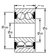 AST 5213-2RS angular contact ball bearings