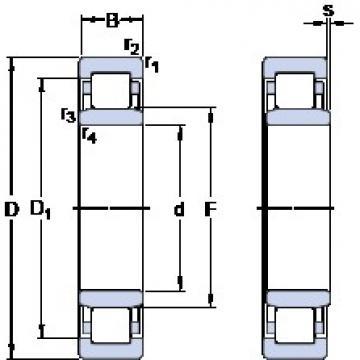 100 mm x 150 mm x 24 mm  SKF NU 1020 ML thrust ball bearings