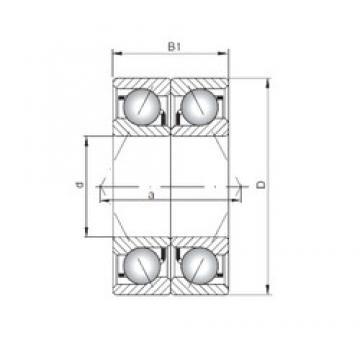 ISO 7003 CDB angular contact ball bearings