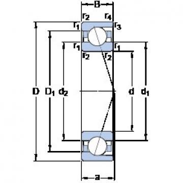 180 mm x 250 mm x 33 mm  SKF 71936 ACD/HCP4A angular contact ball bearings