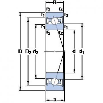 100 mm x 150 mm x 24 mm  SKF S7020 ACB/HCP4A angular contact ball bearings