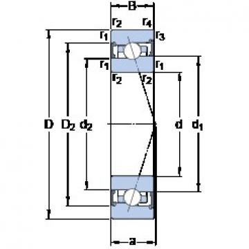 100 mm x 150 mm x 24 mm  SKF S7020 ACB/P4A angular contact ball bearings