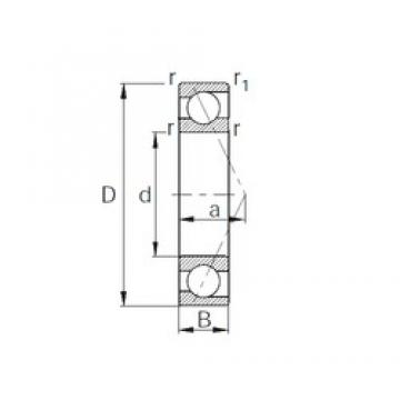 50 mm x 72 mm x 12 mm  CYSD 7910 angular contact ball bearings