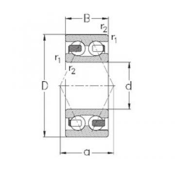 65 mm x 120 mm x 38,1 mm  NKE 3213-B-TV angular contact ball bearings