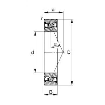 60 mm x 85 mm x 13 mm  FAG HCS71912-E-T-P4S angular contact ball bearings
