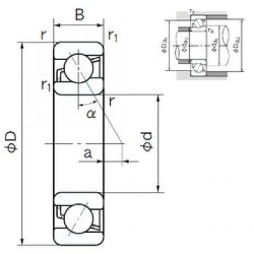 180 mm x 280 mm x 46 mm  NACHI 7036 angular contact ball bearings