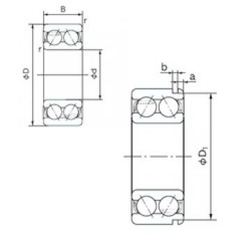 65 mm x 120 mm x 38.1 mm  NACHI 5213N angular contact ball bearings