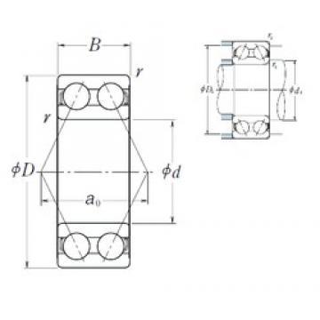 65 mm x 120 mm x 38,1 mm  NSK 5213 angular contact ball bearings