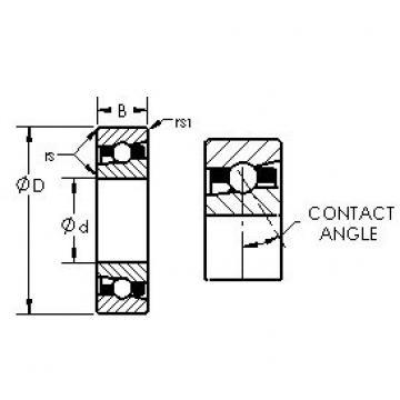 AST H7036C/HQ1 angular contact ball bearings