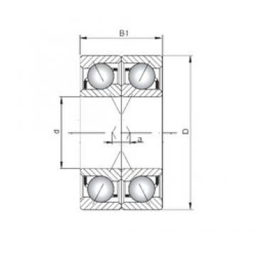 Loyal 7003 B-UX angular contact ball bearings