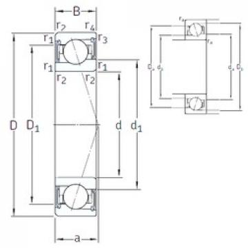55 mm x 80 mm x 13 mm  SNFA VEB 55 /S 7CE3 angular contact ball bearings