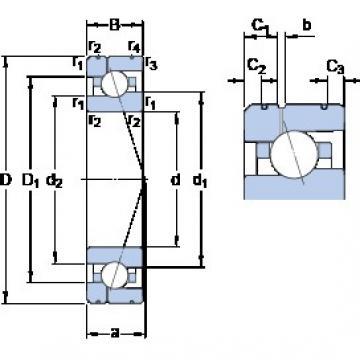 100 mm x 150 mm x 24 mm  SKF 7020 ACE/P4AL1 angular contact ball bearings