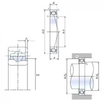 55 mm x 80 mm x 13 mm  NSK 55BNR19H angular contact ball bearings