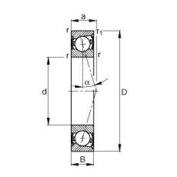 50 mm x 72 mm x 12 mm  FAG B71910-C-2RSD-T-P4S angular contact ball bearings