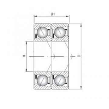 ISO 7003 ADT angular contact ball bearings