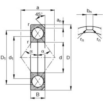 220 mm x 400 mm x 65 mm  FAG QJ244-N2-MPA angular contact ball bearings