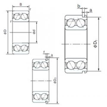 65 mm x 120 mm x 38.1 mm  NACHI 5213NR angular contact ball bearings