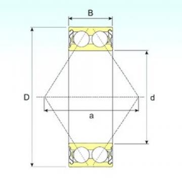 65 mm x 120 mm x 38,1 mm  ISB 3213-ZZ angular contact ball bearings