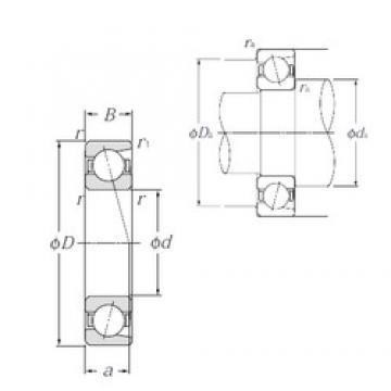 180 mm x 250 mm x 33 mm  NTN 7936 angular contact ball bearings