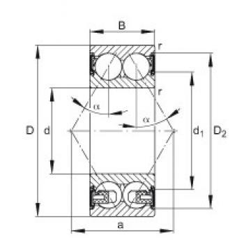 65 mm x 120 mm x 38,1 mm  FAG 3213-BD-2HRS-TVH angular contact ball bearings