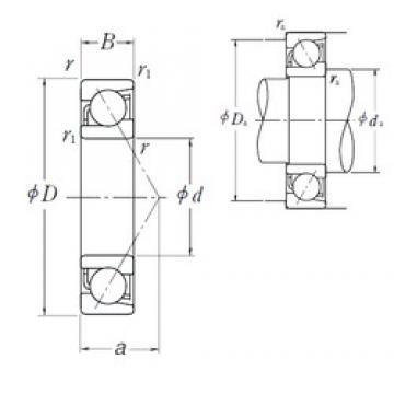 220 mm x 400 mm x 65 mm  NSK 7244B angular contact ball bearings