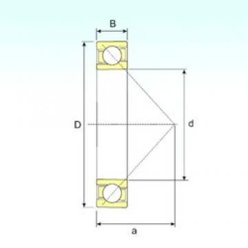 220 mm x 400 mm x 65 mm  ISB 7244 B angular contact ball bearings