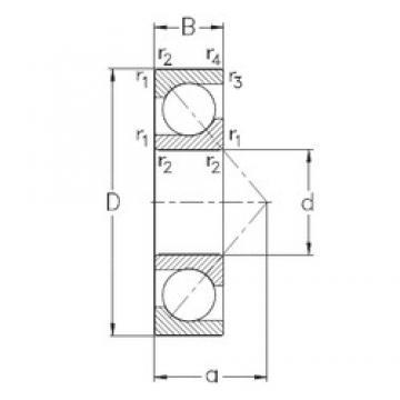 220 mm x 400 mm x 65 mm  NKE 7244-B-MP angular contact ball bearings
