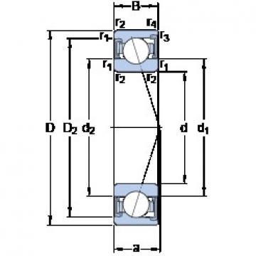 100 mm x 150 mm x 24 mm  SKF S7020 CD/HCP4A angular contact ball bearings