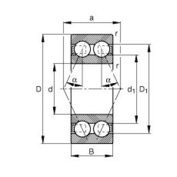 65 mm x 120 mm x 38,1 mm  FAG 3213-BD-TVH angular contact ball bearings